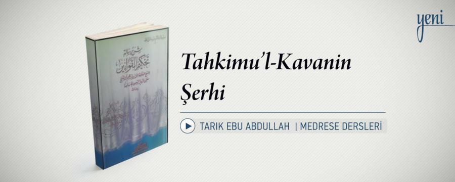 Tahkimu'l-Kavanin Şerhi / Medrese